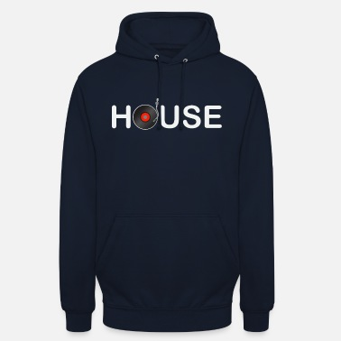 House Music house music - Sweat-shirt à capuche unisexe