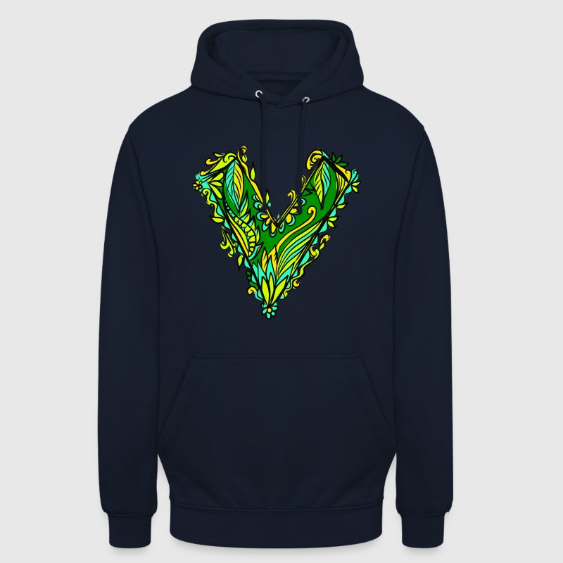V like vegan, vegetarian, plant power, save earth - Unisex Hoodie