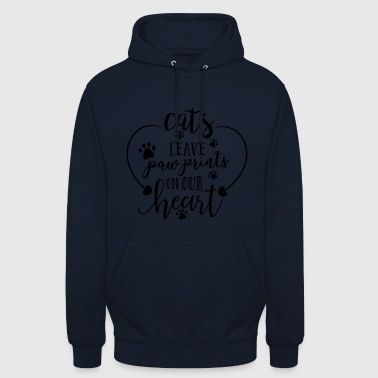 Paw Print cats leave paw prints - Unisex Hoodie