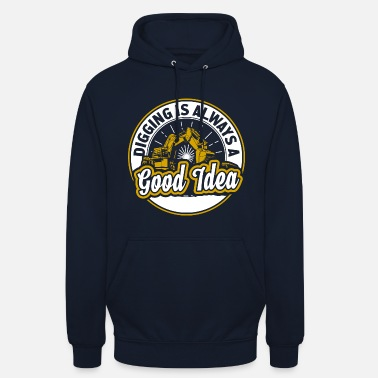 Digger Construction worker digger gift - Unisex Hoodie
