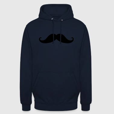 moustache - Sweat-shirt à capuche unisexe