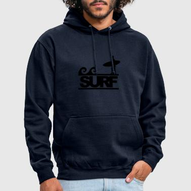 J'aime surfer! - Sweat-shirt à capuche unisexe