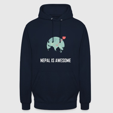 Nepal Nepal is awesome - Unisex Hoodie