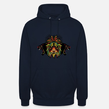 Panther lion panthere fancy könig tier design kunst 606 - Unisex Hoodie