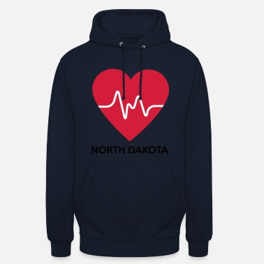 North Dakota Heart North Dakota - Unisex Hoodie