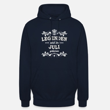 Birthday in July - Legends - Unisex Hoodie