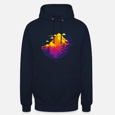 Rocky Mountains circle - Unisex Hoodie