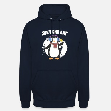 Chill Out Penguin - Just Chilling - Chill Out - Bluza z kapturem typu unisex
