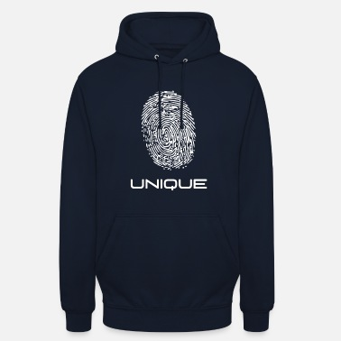 Unique - empreinte digitale - unique - empreinte digitale - Sweat-shirt à capuche unisexe