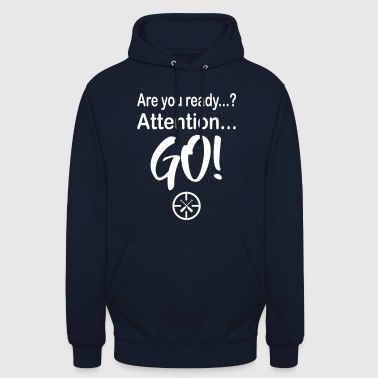 Drachenboot Are you Ready? 1c - Unisex Hoodie