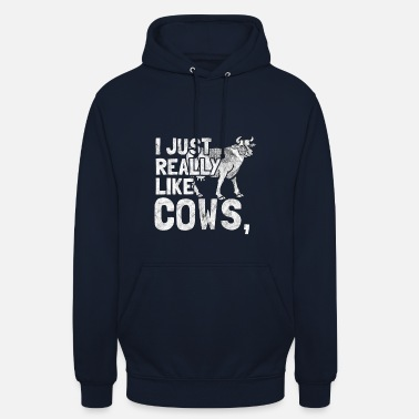 Cow I Love Cows - gift for a farmer - Unisex Hoodie