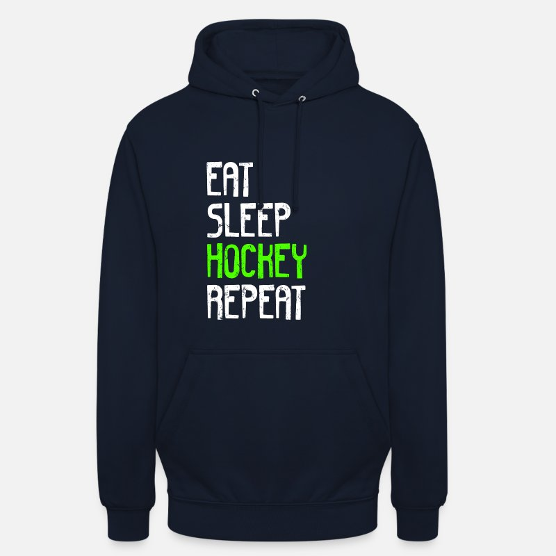Field Hoodies & Sweatshirts - EAT SLEEP HOCKEY REPEAT - Unisex Hoodie navy