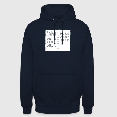 New Year's Resolutions Notes Happy 2018 Holiday - Unisex Hoodie