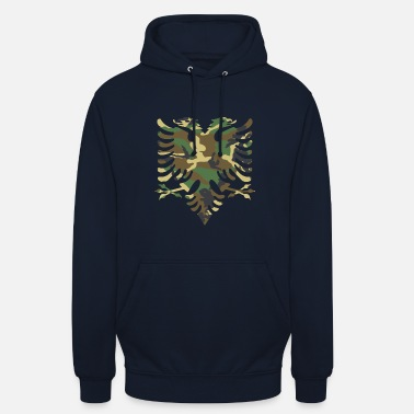Camouflage Albanische Flagge Camouflage Holz - Unisex Hoodie
