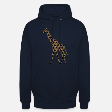 Art Graphique Girafe design graphique idée cadeau art exclusif - Sweat-shirt à capuche unisexe