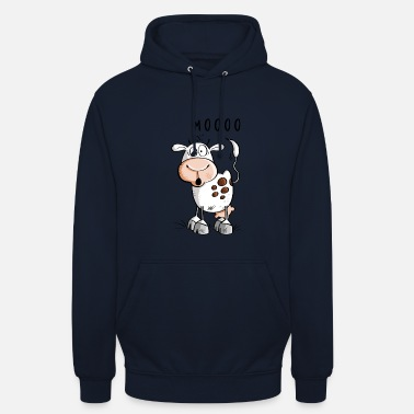 Farm Mooo cow cartoon - cows - Unisex Hoodie