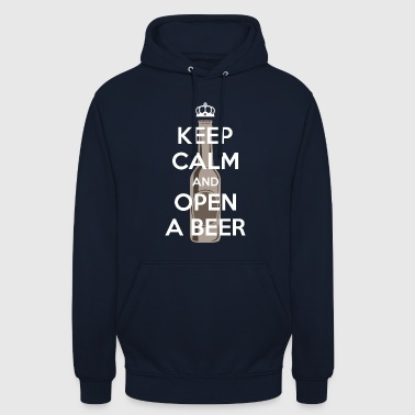 Bière Beer - keep calm - Sweat-shirt à capuche unisexe