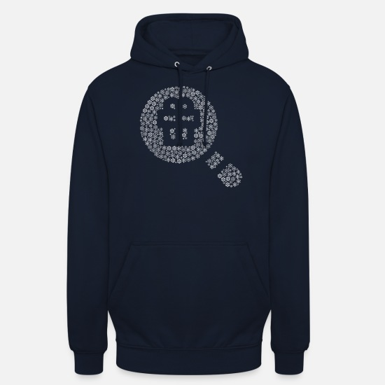 Geek Hoodies & Sweatshirts - Snowflakes word cloud in poison form (white) - Unisex Hoodie navy