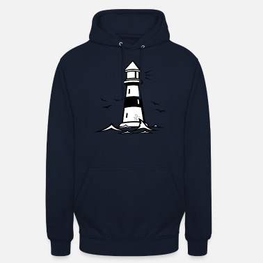 lighthouse vector lighthouse - Unisex Hoodie