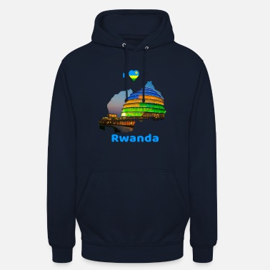 Light I love Rwanda Shirt and other products - Unisex Hoodie