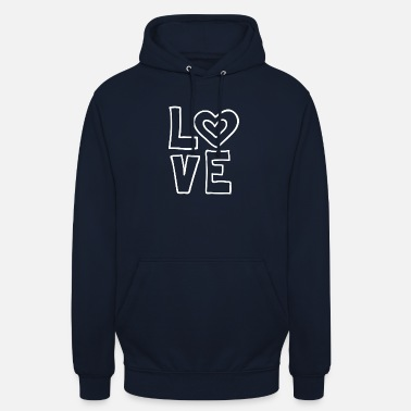 Lovely Love love valentines day romantic heart heart kiss - Unisex Hoodie