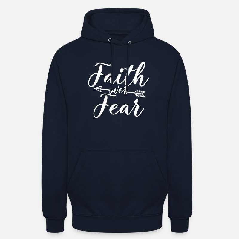 Christianity Hoodies & Sweatshirts - Faith over Fear - Unisex Hoodie navy
