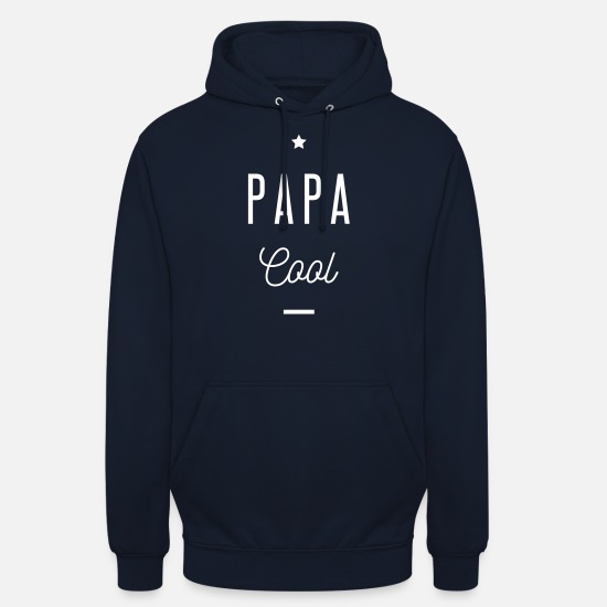 Papa Sweat-shirts - PAPA COOL - Sweat à capuche unisexe marine