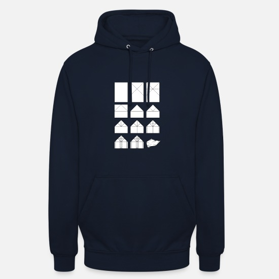 Instructions Hoodies & Sweatshirts - Paper airplane folding instructions - Unisex Hoodie navy