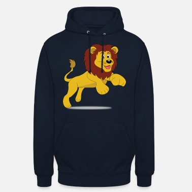 Teens Cute lion with mane - motif for children and teens - Unisex Hoodie