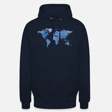 World Map map of the world world map - Unisex Hoodie