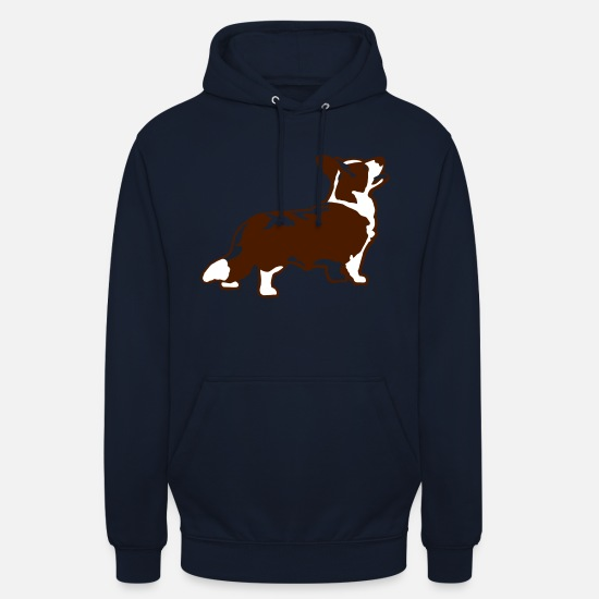 Welsh Hoodies & Sweatshirts - Welsh Corgi Cardigan - Unisex Hoodie navy