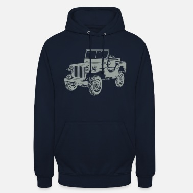 Jeep Jeep Willys Overland Offroad 4x4 T-Shirt - Unisex hoodie