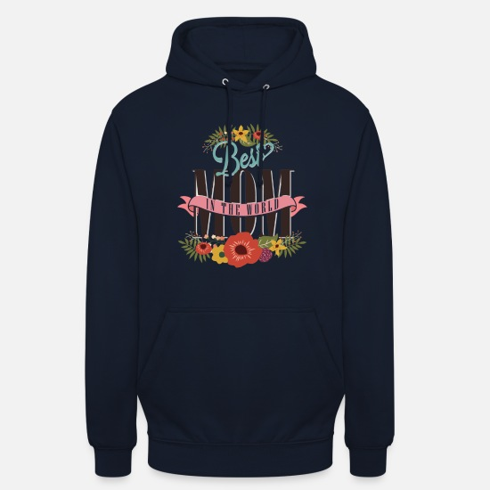 Mother's Day Hoodies & Sweatshirts - Best MOM - Unisex Hoodie navy