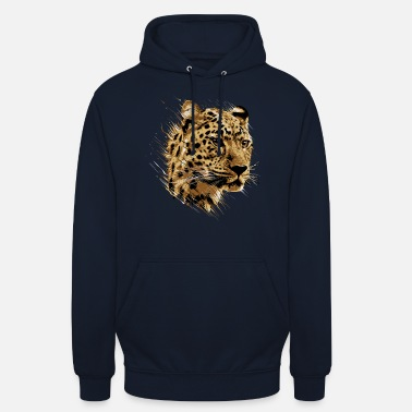 Leopard Leopard Cheetah Cat Feline Safari Too Kitty - Unisex hoodie