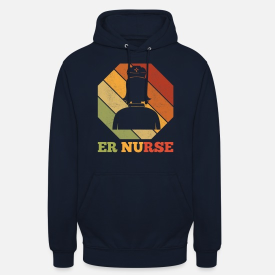 Nurse Hoodies & Sweatshirts - Emergency room nurse nursing - Unisex Hoodie navy