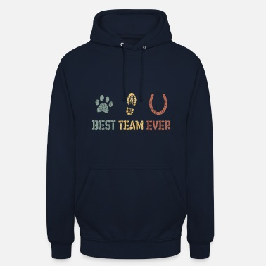 Dog Horse Team Love - Bluza z kapturem unisex