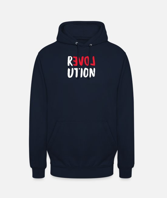 Injustice Hoodies & Sweatshirts - Love Love Revolution - Unisex Hoodie navy
