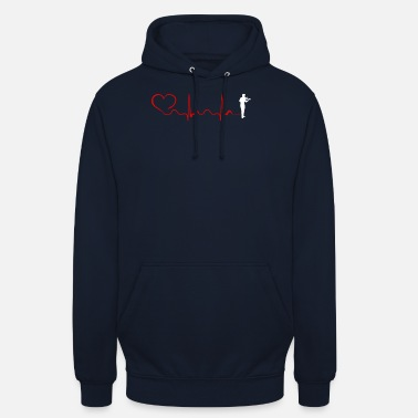 Fiddlestick Violin Heartbeat And Heart - Unisex Hoodie