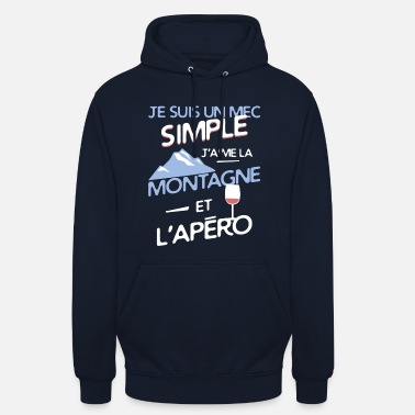 Simple Montagne - un mec simple - Sweat à capuche unisexe