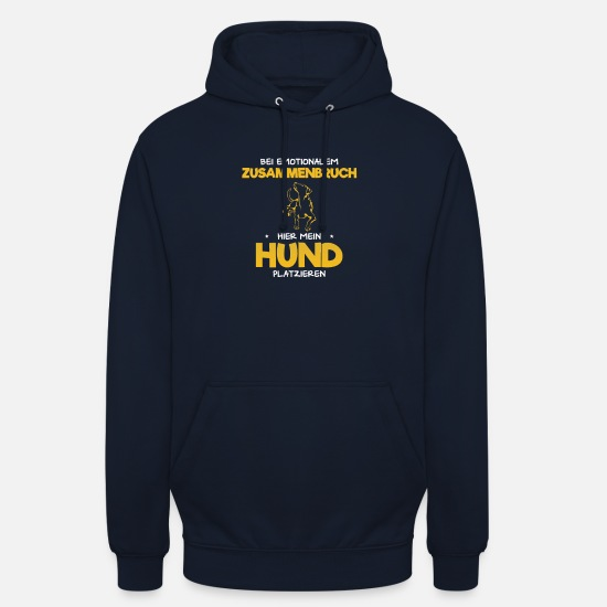Dog Owner Hoodies & Sweatshirts - Collapse dog ... - Unisex Hoodie navy