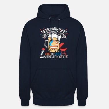 Washington Beer BBQ e Blowin Stuff Up 4 luglio - Hoodie unisex