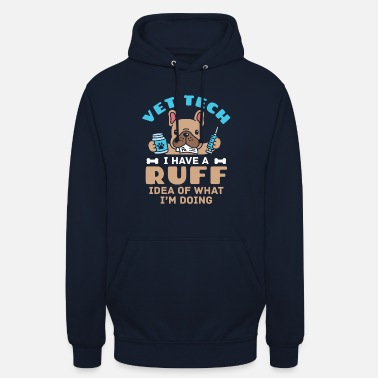 Iskulause Eläinlääkäri Tech Veterinary Technician Cute Ruff Idea - Unisex huppari