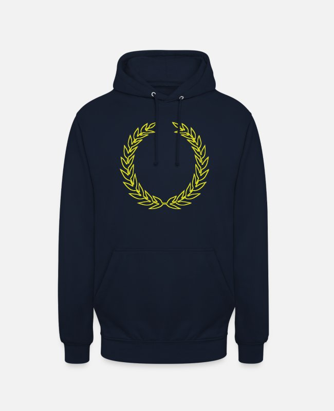 Wreath Hoodies & Sweatshirts - Laurel wreath - Unisex Hoodie navy
