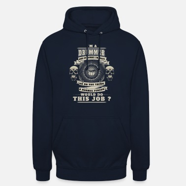drums drum drum crazy warned baan badass ha - Unisex hoodie