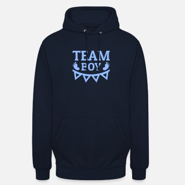 Team Team Boy Team Nuts It's a Boy Gender Reveal Baby - Unisex hoodie