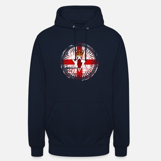 Birthday Hoodies & Sweatshirts - Northern Ireland emblem country gift - Unisex Hoodie navy