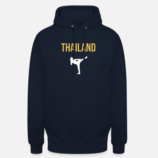 Mma Sweat-shirts - Thai Boxer - Sweat à capuche unisexe marine