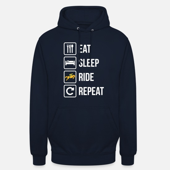 Horse Hoodies & Sweatshirts - Eat Sleep Ride Repeat Horse - Unisex Hoodie navy