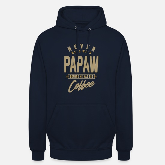 Father's Day Hoodies & Sweatshirts - Coffee Papaw - Unisex Hoodie navy