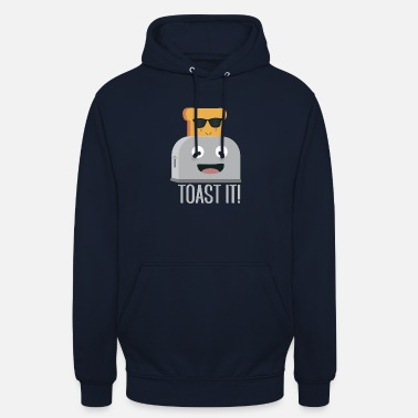 Funny Toaster with bread - Unisex Hoodie